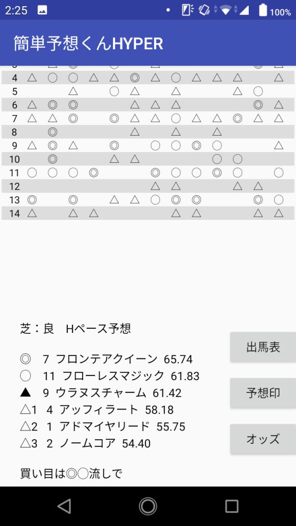 スマホアプリ版実行画面2